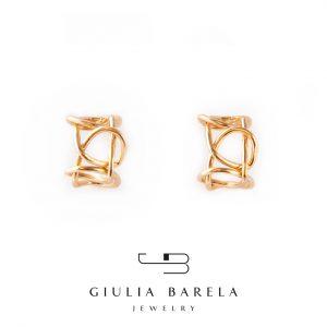 GB orecchini knot light - 145 - bronzo e oro