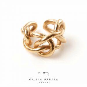 anello knot - 190 -bronzo e oro (F)